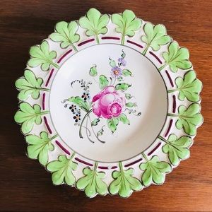 Vintage French hand painted floral plate/ dish
